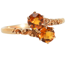 Allsopp Bros. Citrine Crossover Ring
