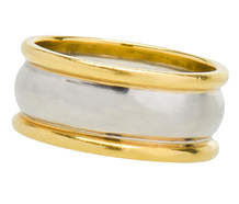 Platinum & Gold Wide Wedding Ring