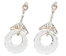 Art Deco Swings - Rock Crystal Earrings