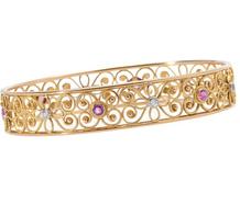 Still Life - Diamond Ruby Bangle Bracelet