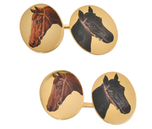 Parimutuel Winner - 18k Gold Equine Cufflinks