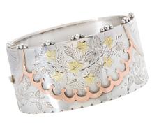 Aesthetic Period Tri-Color Silver Bracelet