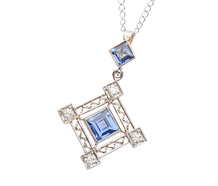 Art Deco Sapphire Diamond Pendant