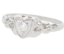 Hearts & Flowers in a Diamond Ring