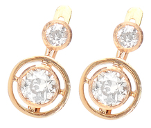 Art Deco Dazzlers - Diamond Set Earrings