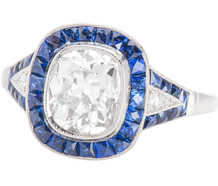 Blue Aura Diamond Sapphire Ring