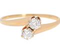 Edwardian Two Diamond Ring