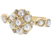 Provocative Pearl & Diamond Ring