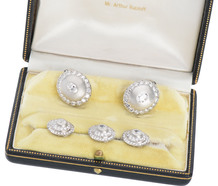Spectacular Diamond Platinum Cuff Links & Studs