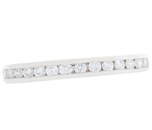 Cordova Diamond-set Half Eternity Band