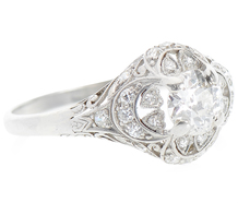 Hearts & Crescent Moons - Edwardian Diamond Ring