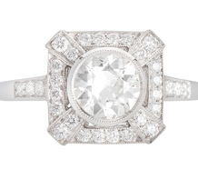 On Target with a Diamond Platinum Ring