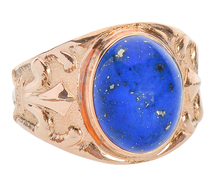 Vintage Starry Night Lapis Lazuli Ring