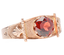 It's in the Details - Victorian Garnet Ring