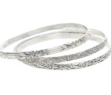 Swedish Design Sterling Bangles - One, Two or All Three!