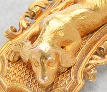 French Spaniel Dog Motif Bracelet of 1850