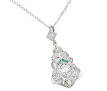 Memories - Diamond & Emerald Pendant