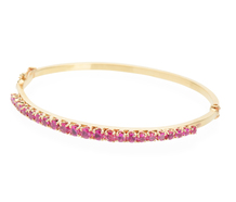 Edwardian Rubies in a Gold Bangle