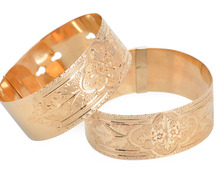 Matched Pair of Victorian Engraved Bangles