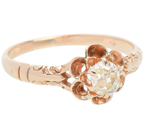 Diamond Bouquet - Victorian Buttercup Ring