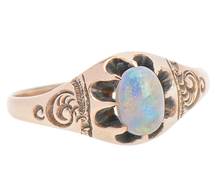 Victorian Play in an Opal Ring