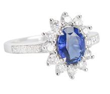 Heavenly Blue Sapphire Diamond Ring
