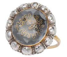 Ode to History - 17th C. Stuart Crystal Ring
