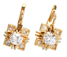 Modern as Today - Diamond Earrings