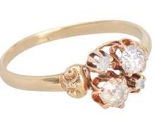 Opposites Attract - Mink Diamond Ring