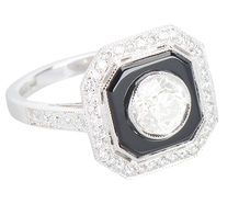 Contrast Galore - Diamond Onyx Ring