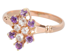 Violet Dainty - Diamond Rose Gold Ring