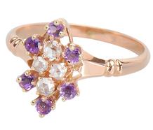 Violet Dainty - Diamond Rose Gold Ring