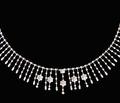Shimmer Fringe Diamond Collar