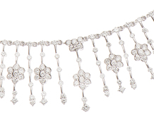 Shimmer Fringe Diamond Collar