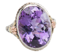 Ovaliscious Vintage Amethyst Ring