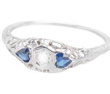 True Blue Hearts - Diamond Ring