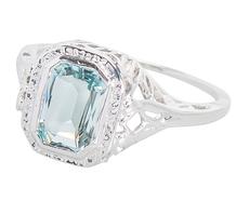 Art Deco Delight - Aquamarine Ring