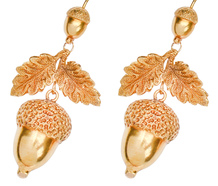 Harvest of Gold - Victorian Acorn Earrings
