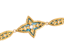 French Flair - Enamel Gold Bracelet