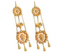 Superb Empire Period Pendant Earrings