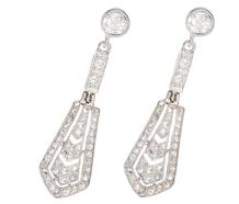 Art Deco Imaginings - Diamond Earrings