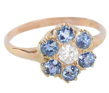 Winter Blossom - Ceylon Sapphire Ring