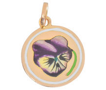 Petal Pushers - Art Deco Pansy Gold Charm