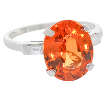 Color Fantastic - Mandarin Garnet Ring