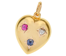 Queen of the Day - Gem Set Heart Pendant