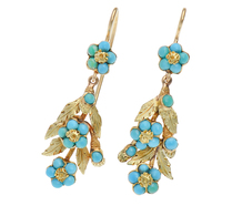 Georgian Turquoise Floral Earrings