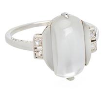Lasso the Moon - Moonstone Diamond Ring