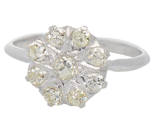 Champagne Diamond Cluster Ring of Distinction
