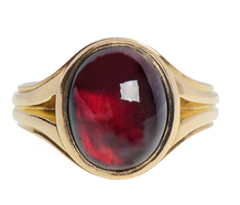 A Goblet of Wine -  English Garnet Ring