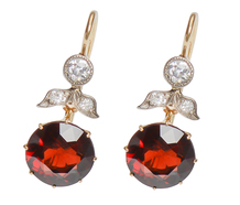 Glowing Garnets Diamond Earrings